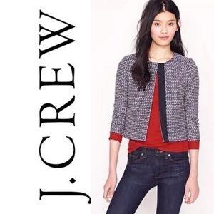 J crew navy tweed jacket
